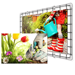 Impression photos couleurs sur toiles de jardin