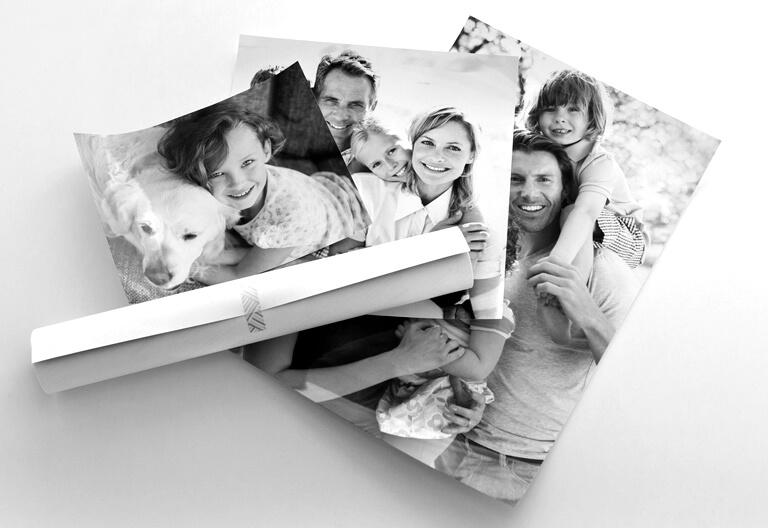 Impression POSTERS noir et blanc sur papier ilford