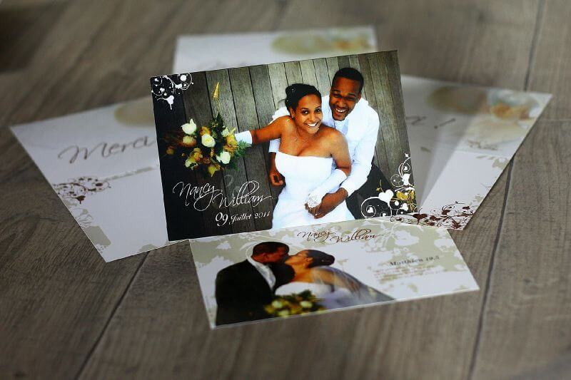 carte remerciement photo de mariage livre photo. Black Bedroom Furniture Sets. Home Design Ideas